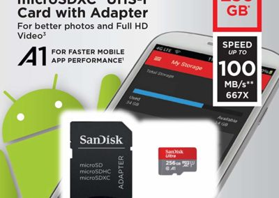 Sandisk Ultra 256GB MicroSDXC