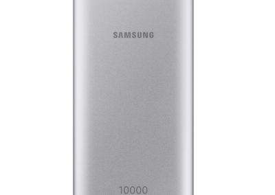 Samsung EB-P1100CSEGUS 10,000 mAh Portable Battery with USB-C Cable, Silver