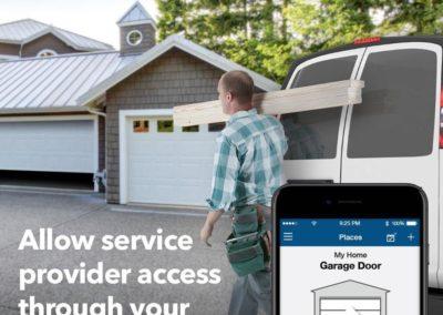 Chamberlain MyQ MYQ-G0301 Smart Garage Door Opener - Wireless & Wi-Fi enabled Garage Hub with Smartphone Control