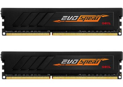 GeIL EVO SPEAR 16GB (2 x 8GB) 288-Pin DDR4 SDRAM DDR4 3000 (PC4 24000) Desktop Memory Model GSB416GB3000C16ADC