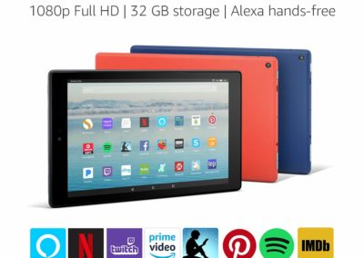 "Fire HD 10 Tablet with Alexa Hands-Free, 10.1"" 1080p Full HD Display, 32 GB, Punch Red - with Special Offers"