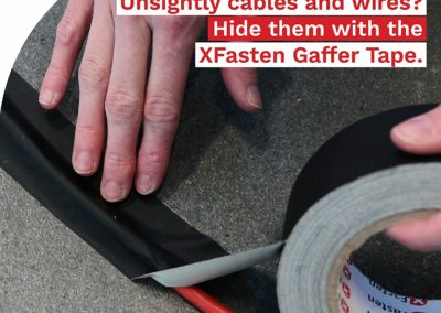 XFasten Professional Grade Gaffer Tape, 2 Inch X 30 Yards (Black), Residue Free, Non Reflective and Easy to Tear Gaff Tape