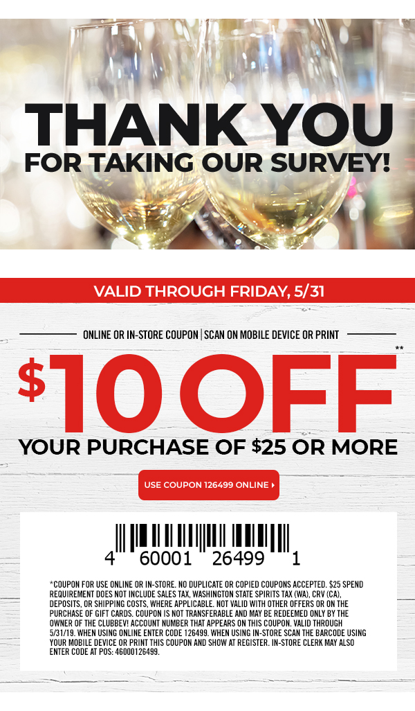 photo relating to Bevmo Coupon Printable titled Coupon for $10 off a $25+ Acquire towards Bevmo On-line or Within just