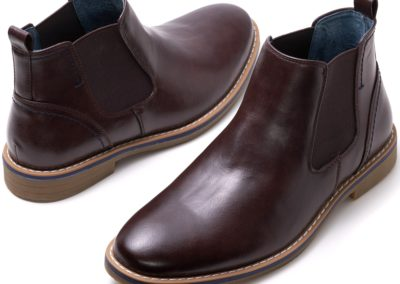 Alpine Swiss Mens Owen Chelsea Boots Pull Up Ankle Boot Genuine Leather Lined