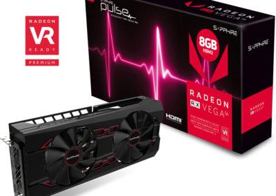 Sapphire 11276-02-40G Radeon Pulse RX Vega 56 8GB HBM2 Dual HDMI/DP (UEFI) PCI-E Graphics Card