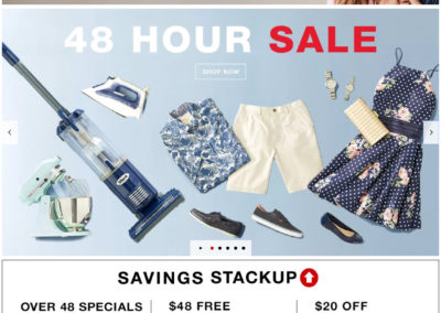 Macy's $20 off a $48+ Purchase Coupon code: HOUR48