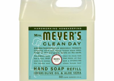 Mrs Meyer S Liquid Hand Soap Refill Basil 33 Fl Oz For