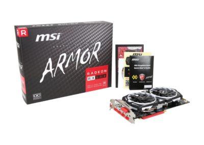 MSI Radeon RX 580 DirectX 12 RX 580 ARMOR 8G OC 8GB 256-Bit GDDR5 PCI Express x16 HDCP Ready CrossFireX Support Video Card