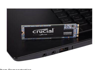 1TB Crucial MX500 CT1000MX500SSD4 M.2 2280 SATA III 3D NAND Internal Solid State Drive (SSD)