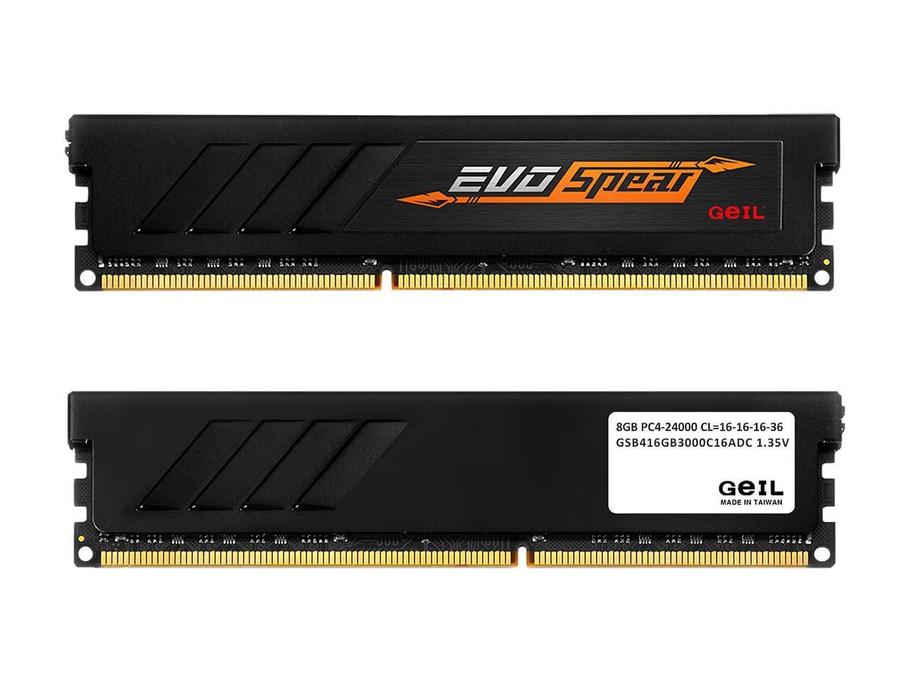 16GB (2 X 8GB) GeIL EVO SPEAR DDR4 3000 SDRAM Desktop