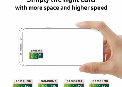 512GB Samsung EVO Select MB-ME512GA/AM 100MB/s (U3) MicroSD (microSDXC) Memory Card with Adapter