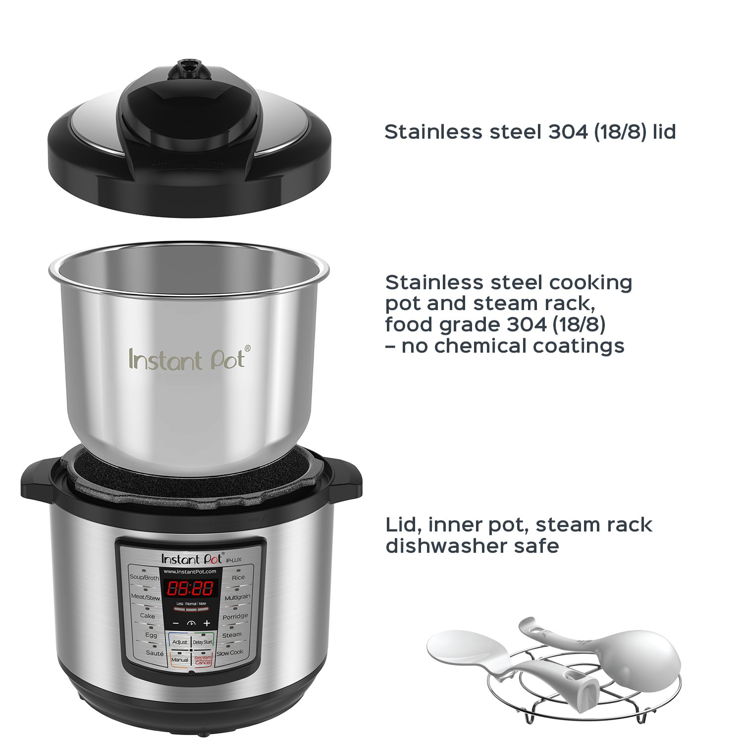 Instant Pot Ip Lux80 8 Qt 6 In 1 Multi Use Programmable