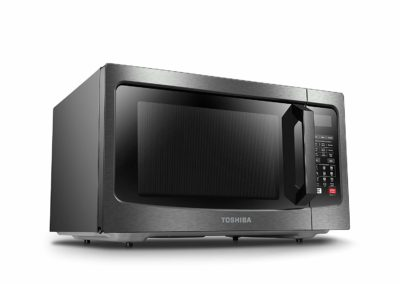 Toshiba EC042A5C-BS Microwave Oven with Convection Function Smart Sensor and LED Lighting 1.5 Cu.ft Black Stainless