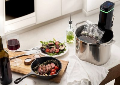Souvia Sous Vide Immersion Circulator w/Accurate Temperature, Programmable Digital Touch Screen Display, Ergonomic Grip to Fit Any Pot Ultra-quiet,1100 Watts, Black