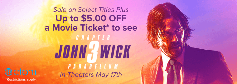 John Wick 3 Parabellum $5 Off Movie Ticket