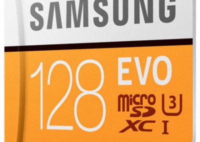 128GB EVO MICRO Samsung Read 100MB/s Class 10 UHS-3 MB-MP128GA/AM