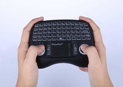 Leelbox 2.4Ghz Mini Keyboard, Wireless Mouse Touchpad Rechargeable Combos for PC Pad Android TV Box, LED Backlit