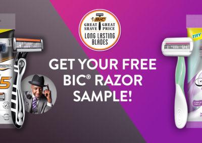 BiC Razors Samples Flex 5 or Soleil Sensitive 3-Blade