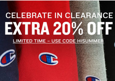 Extra 20% Off Clearance at Champion