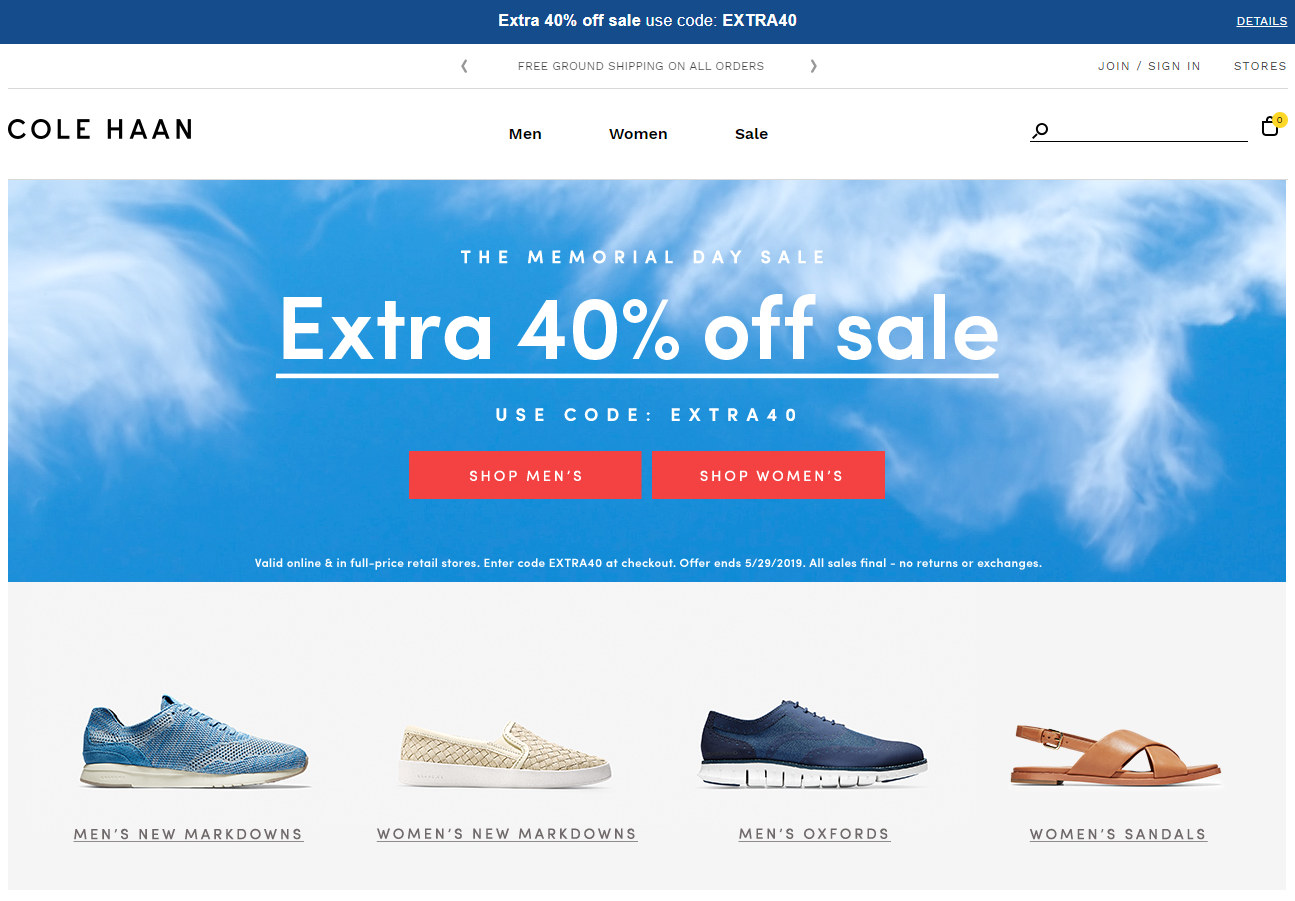 Coupon for Extra 40% off Sale Items