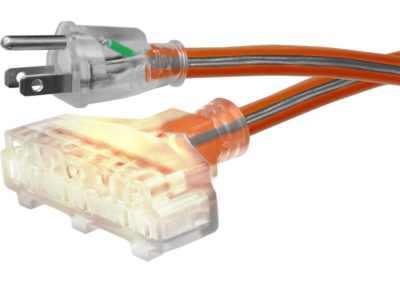 Ridgid 657-12350RL6AP 50 ft. 12/3 Tri-Tap Outdoor Extension Cord