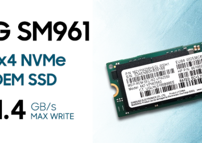 Samsung SM961 256GB (NVMe) SM961 MZVPW256HEGL-00000 MZ-VPW2560 Gen3 M.2 80mm PCIe 3.0 x4 256G SSD