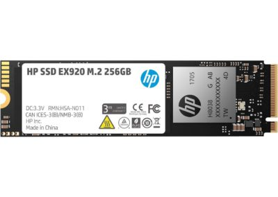 HP EX920 M.2 256GB PCIe 3.0 x4 NVMe 3D TLC NAND Internal Solid State Drive (SSD) 2YY45AA#ABC