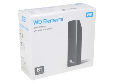 WD Elements 8TB USB 3.0 Desktop Hard Drive WDBWLG0080HBK-NESN Black