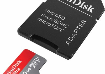 SanDisk 200GB Ultra microSDXC UHS-I Memory Card with Adapter - 100MB/s, C10, U1, Full HD, A1, Micro SD Card - SDSQUAR-200G-GN6MA