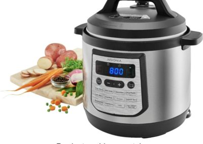 Insignia NS-MC80SS9 8-Quart Multi-Function Pressure Cooker in Stainless Steel