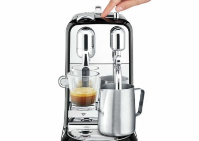 Breville Nespresso Creatista Single Serve Espresso Machine with Milk Auto Steam Wand