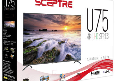 Sceptre 75 Inch Class 4K Ultra HD 2160P LED TV