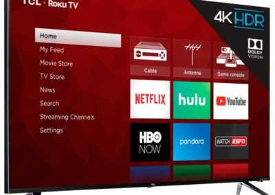 TCL 75 Inch 4K UHD LED TV with HDR and Roku