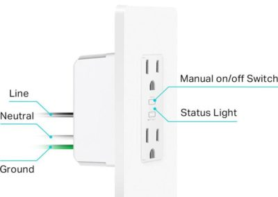 TP-Link 125-Volt Indoor Only White Wi-Fi Compatibility Smart Plug 2-Pack