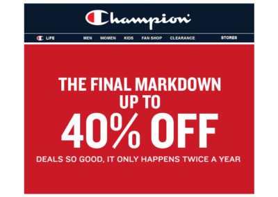 Champion Final Markdown