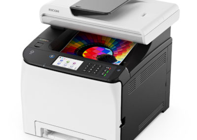Ricoh SP C261SFNw A4 Color Laser Multifunction Printer with Wi-Fi, 21ppm, 2400x600 dpi, 250 Sheet Standard Input - Print, Copy, Scan, Fax