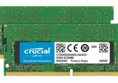 Crucial 32GB Kit (16GBx2) DDR4 2400 MT/s (PC4-19200) 260-Pin SODIMM Memory - CT2K16G4SFD824A