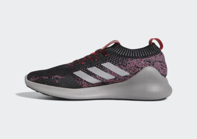 Adidas Purebounce+ Men's Running Shoes in Core Black / Silver Metallic / Scarlet