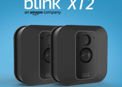 All-new Blink XT2 Outdoor/Indoor Smart Security Camera with cloud storage included, 2-way audio, 2-year battery life – 2 camera kit