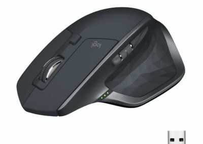 Logitech MX Master 2S Wireless Mouse – Use on Any Surface, Hyper-Fast Scrolling, Ergonomic Shape, Rechargeable, Control up to 3 Apple Mac and Windows Computers (Bluetooth or USB), Graphite