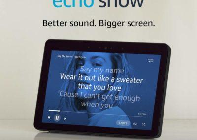"10.1"" Amazon Echo Show (2nd Gen) Charcoal Bundle with free Echo Dot Charcoal and Philips Hue Bulb"