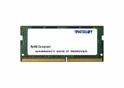 16GB (1 x 16GB) Patriot Signature Line PSD416G24002S 260-Pin DDR4 SO-DIMM DDR4 2400 (PC4 19200) Memory (Notebook Memory)