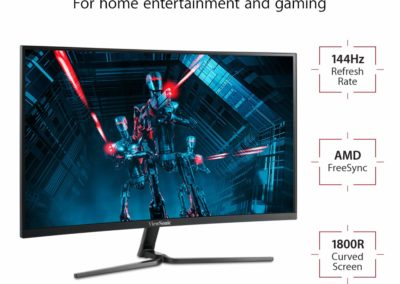 ViewSonic VX3258-2KC-MHD 32 Inch 1440p Curved 144 Hz Gaming Monitor with FreeSync Eye Care HDMI and DP