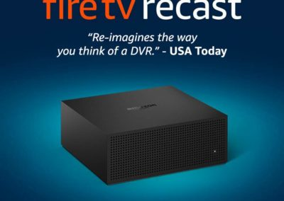 Amazon Fire TV Recast, over-the-air DVR, 1 TB, 150 hours or 500 GB, 75 hours