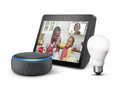 "10.1"" Amazon Echo Show (2nd Gen) Charcoal Bundle with free Echo Dot Charcoal and Philips Hue Bulb"