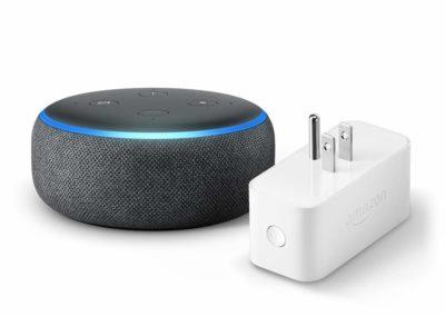 Echo Dot (3rd Gen) bundle with Amazon Smart Plug - Charcoal