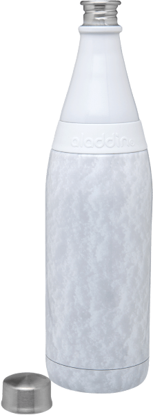 Aladdin Earthscapes Fresco Twist & Go Vacuum Bottle | 20oz | Snow