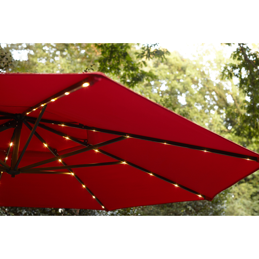 Simply Shade Red Offset Pre Lit 11 Ft Auto Tilt Octagon