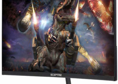 "Sceptre 24"" Curved 144Hz Gaming LED Monitor Edge-Less AMD FreeSync DisplayPort HDMI, Metal Black 2019 (C248B-144RN)"