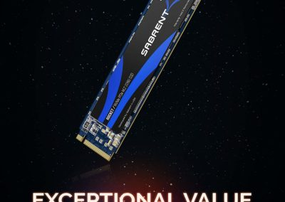 Sabrent 512GB Rocket Nvme PCIe M.2 2280 Internal SSD High Performance Solid State Drive (SB-ROCKET-512)